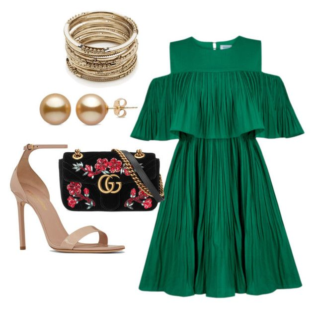 """""""Dinner by the sea"""" by lestariani on Polyvore featuring Jovonna, Yves Saint Laurent, Sole Society and Gucci"""