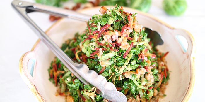 Brussel Sprout Salad With Baobab Dressing Brussel Sprout