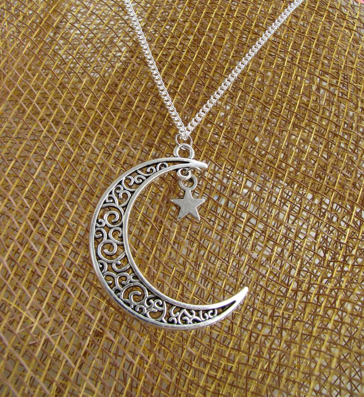 Excited to share the latest addition to my #etsy shop: Cresent necklace ,Silver plated Crescent and Star Necklace, Silver Moon and star pendent, Half Moon and Star Necklace Pendant http://etsy.me/2BeG2Nl #jewellery #necklace #crescentandstar #silvercrescentmoon #vintag