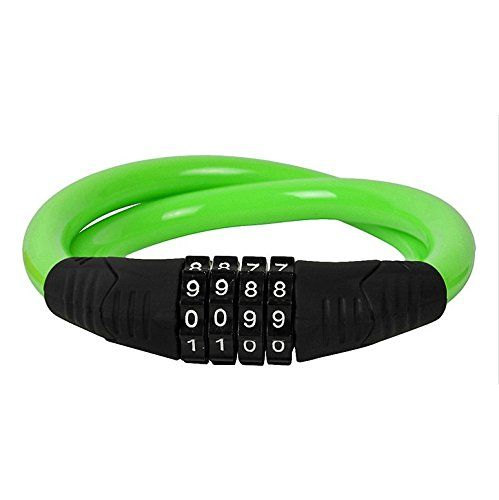 4 Digit Combination Password Lock Bicycle - Jakroo Steell Wire Cable Bike Bicycle 4 Digit Combination Password Lock green by Jakroo. 4 Digit Combination Password Lock Bicycle - Jakroo Steell Wire Cable Bike Bicycle 4 Digit Combination Password Lock green.