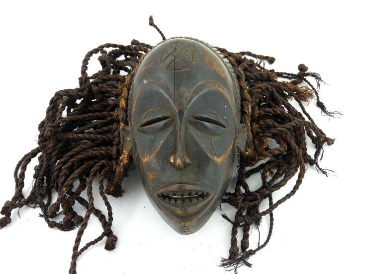 MASKA CHOKWE (SZTUKA AFRYKI, AFRYKA, KONGO, 25 CM, 941)