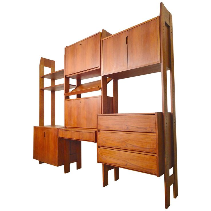 Terrific Mid Century Standing Wall Unit And Room Divider