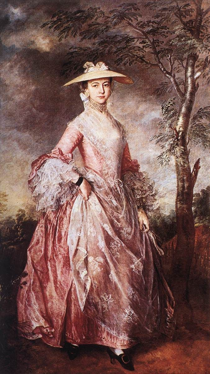Mary, Countess of Howe in 1764 By Thomas Gainsborough  ~ b. 1727, Sudbury, d. 1788, London ~ (1) From: Web Gallery Of Art, please visit