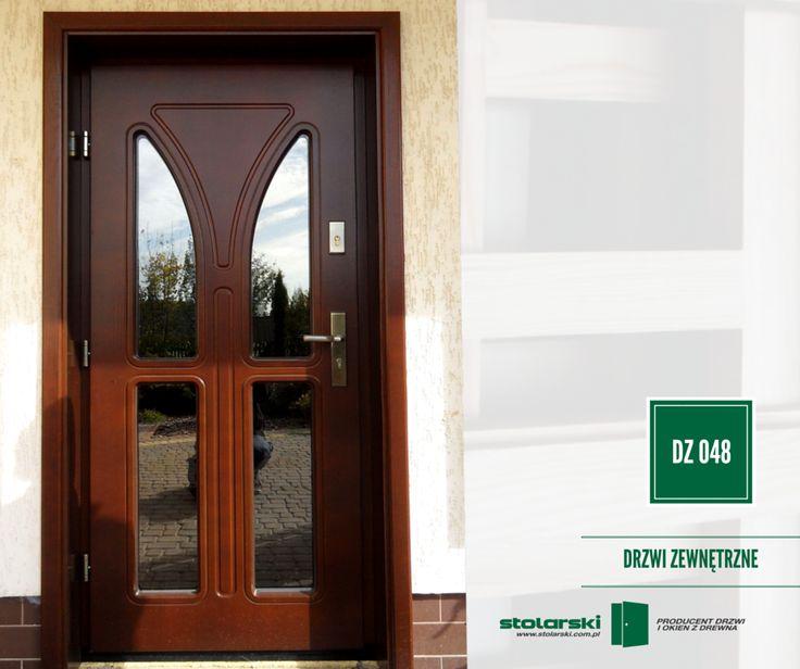 Drzwi zewnętrzne MODEL DZ 048  #drzwidrewniane #drzwizewnetrzne #door #wood #stolarnia #drzwimarzeń #realizacje www.stolarski.com.pl