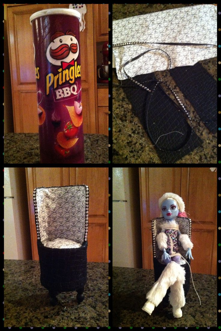 My Monster High Chair  Hot Glue, fabric, beetle black paint, felt in animal print & some embellishments from Michaels!