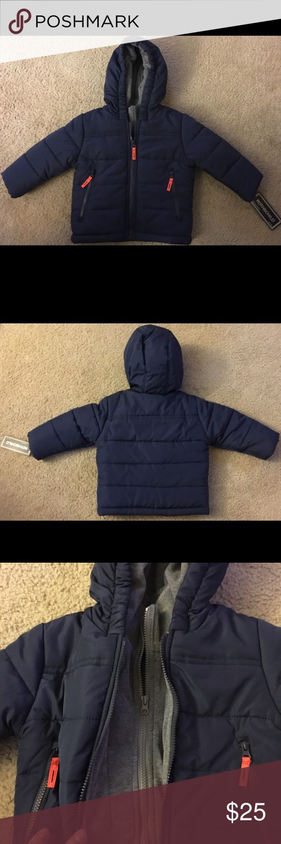 Rothschild 24 Month Boys Winter Coat Brand new, still in plastic! Winter coat sized 24 months. Has fleece inner lining. Rothschild Jackets & Coats Puffers