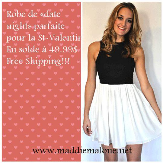 Belle robe féminine blanche et noire créé par Against Nudity Designer Mtl corsage en simili-cuir   http://maddiemalone.net/boutique/fr/soldes/duality-dress-by-against-nudity-p248c66/