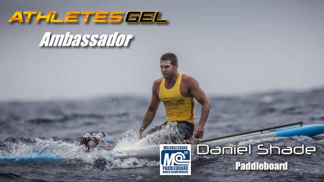 Athletes Gel Ambassador, Daniel Shade is a former Kurrawa Ironman and is ranked No.2 in World Paddle Board. Daniel finished second in 2016 at the World Championships held at Molokai in Hawaii. Shady also broke the race record, in the worlds most grueling paddle board event and has competed 9 times,