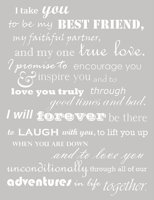 I Love These Vows So Sweet