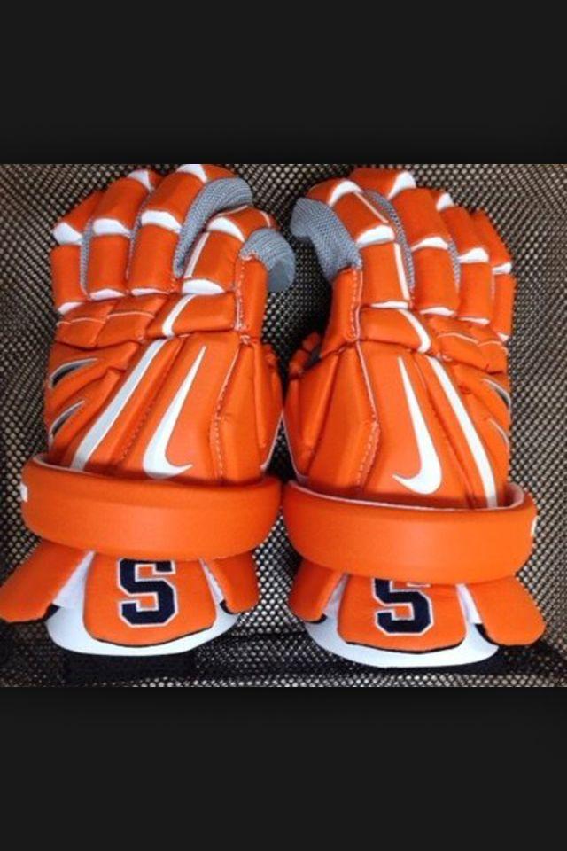 Sick lax Syracuse gloves