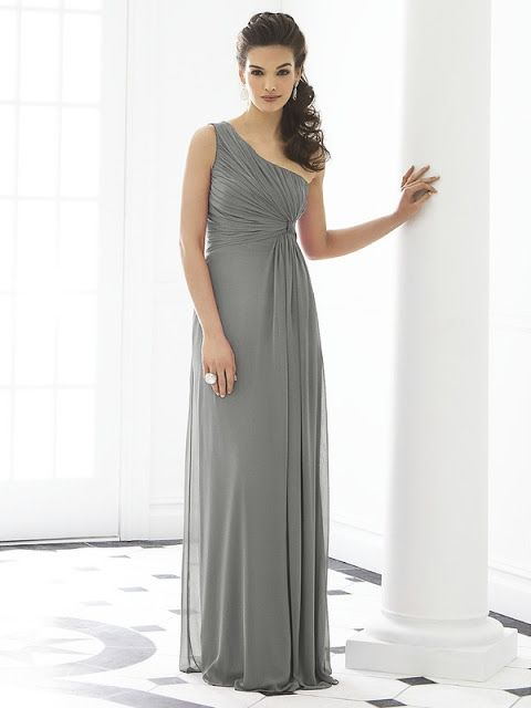 Grey Bridesmaid Dresses  @Ashton Jenkins Moore  This would be pretty in light pink!