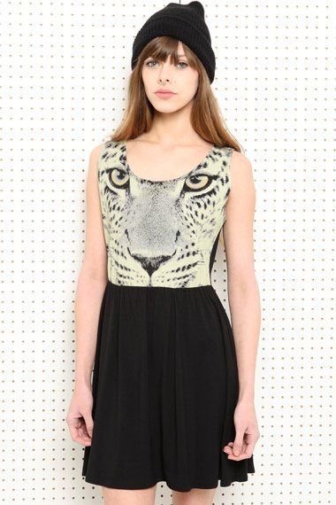Vintage Renewal Kleid mit Gepardenmuster bei Urban Outfitters