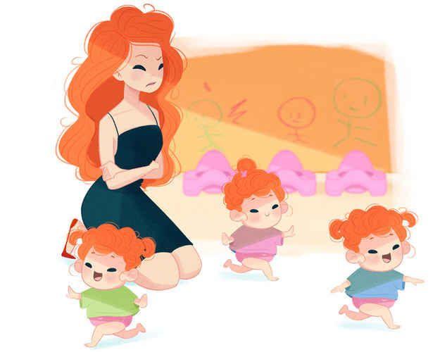 if disney princesses were moms.