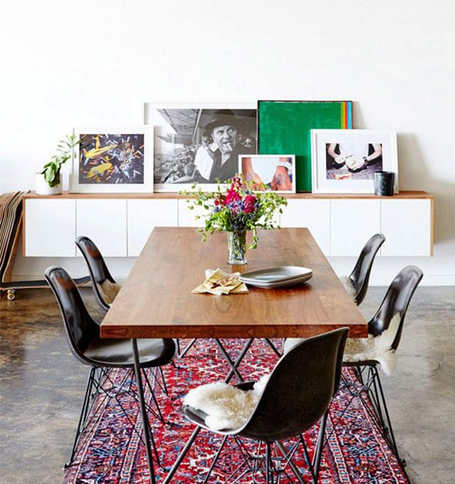 How To Display Art Without Putting Holes In Your Walls Fashion Stylist Dining TablesDining RoomsLoftInterior RugsPippa