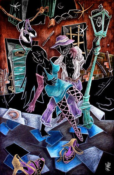 """L'uLTiMo TanGo - Arte Contemporaneo Buenos Aires, Argentina"" Painting by nacasona buy now as poster, art print and greeting card.."
