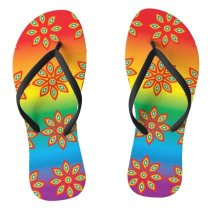 #Multi-coloured Flip Flops - #womens #shoes #womensshoes #custom #cool