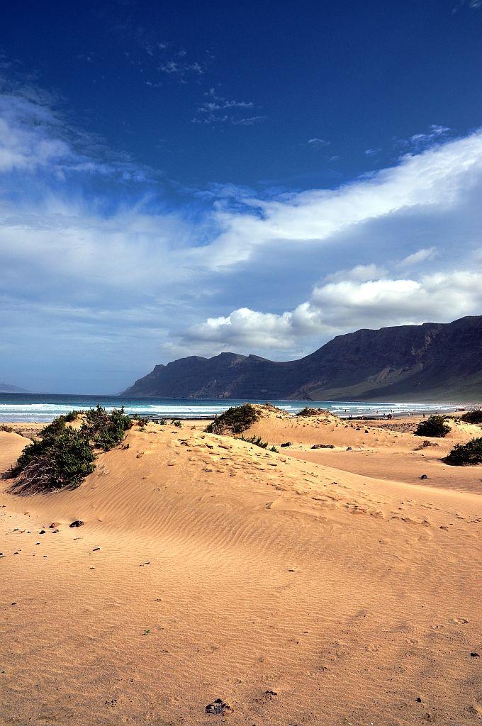 Playa-de-Famara dunas  Lanzarote  Spain