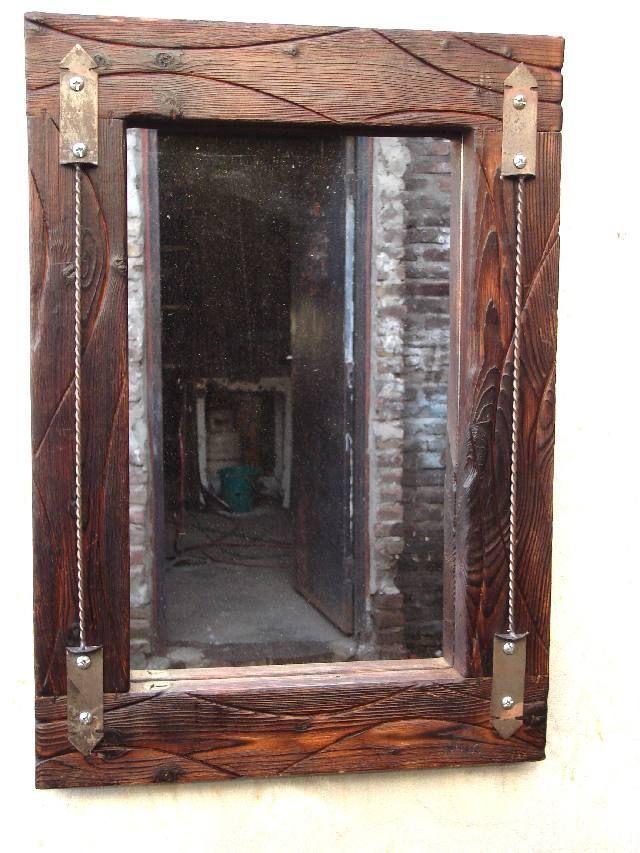 Marcos rusticos para cuadros etnicos buscar con google for Como hacer un espejo con marco de madera