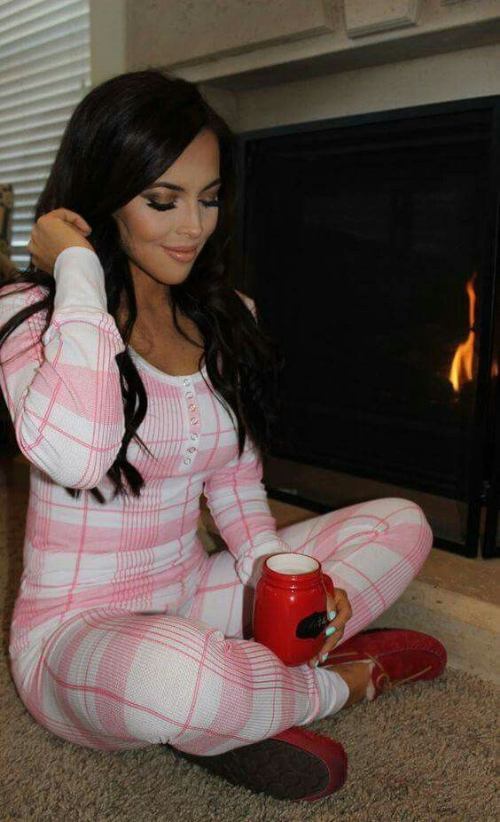 Love thermal pajamas because the arm/leg cuffs make them stay put while you sleep!