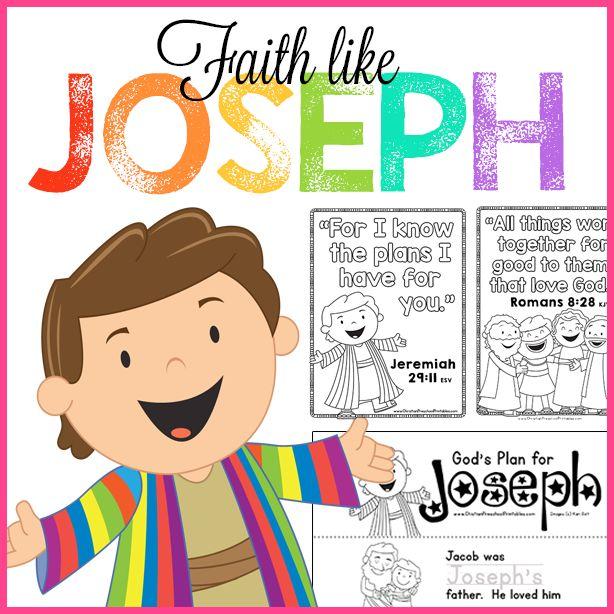 Free Joseph Bible Printables! Christian Preschool Curriculum, Faith Like Joseph…