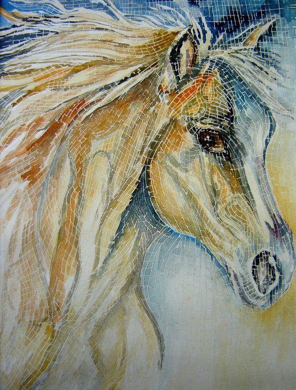 Mosaic horse - this is what my clients want as art in their dining