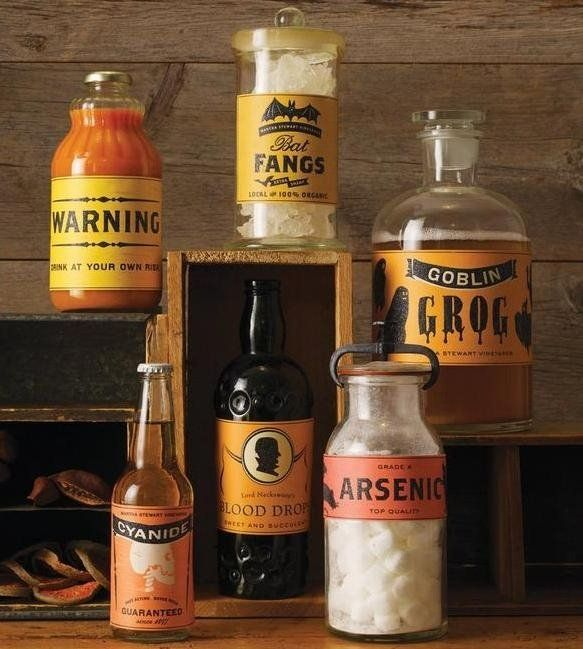 classic halloween food beverage labels by martha stewart make any bottle or jar halloween ready apply these glittery food and beverage labels from martha - Martha Stewart Halloween Decor
