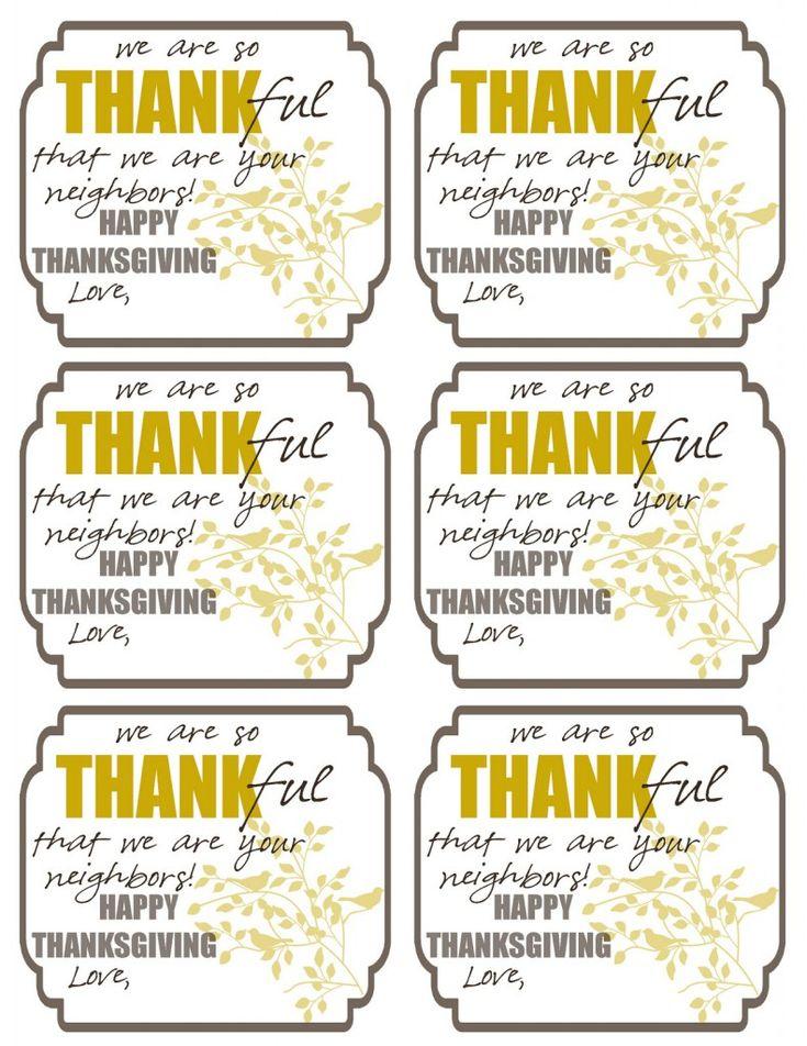 FREE Thankful Tags!
