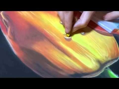comment créer des gouttes au pastel sec