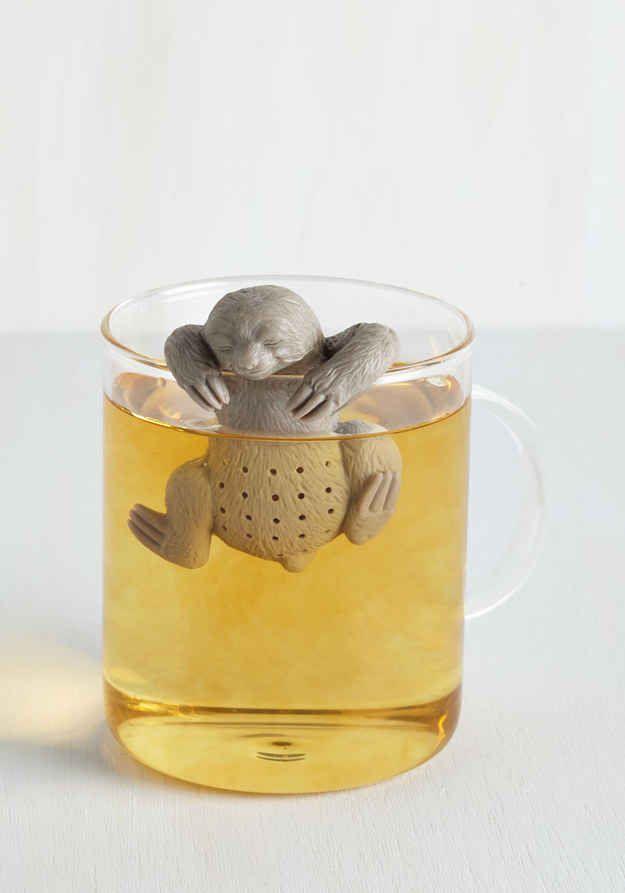Ein Faultier Deinen Tee zubereiten lassen..