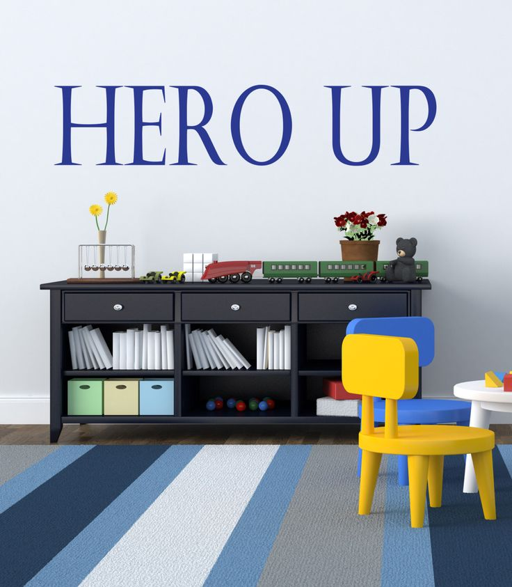 Hero Up Wall Decal Super Hero Squad Decor Vinyl Decal Sticker for superhero marvel comic themed rooms by BetterThanStickers on Etsy https://www.etsy.com/listing/291223401/hero-up-wall-decal-super-hero-squad