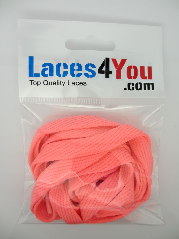 Flat Hot Pink 10mm Laces.