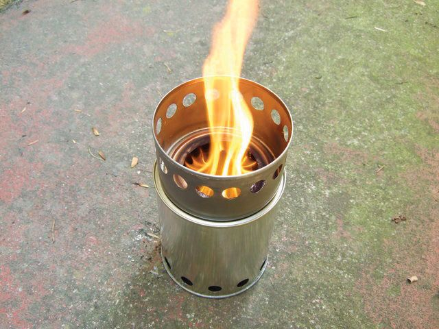 Make a simple tin-can stove that costs 99 cents, runs for free, and sequesters carbon as you cook.