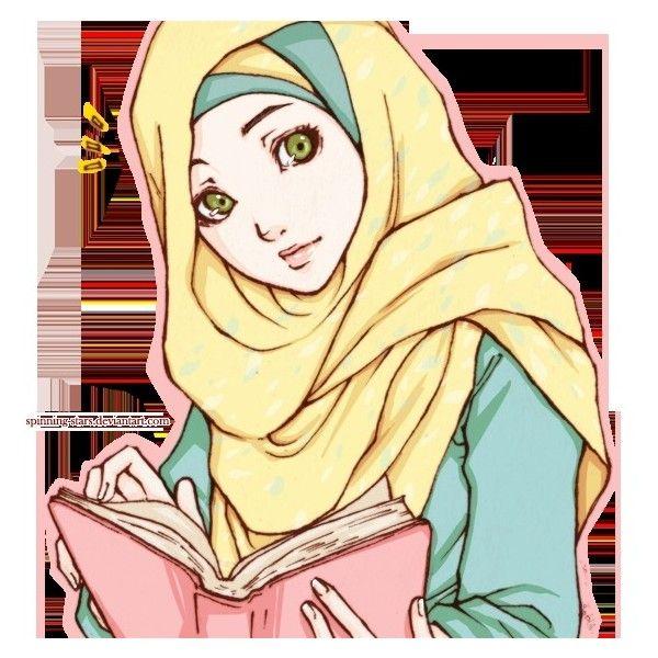 Anime Muslimah | Hijab anime | Pinterest ❤ liked on Polyvore featuring anime
