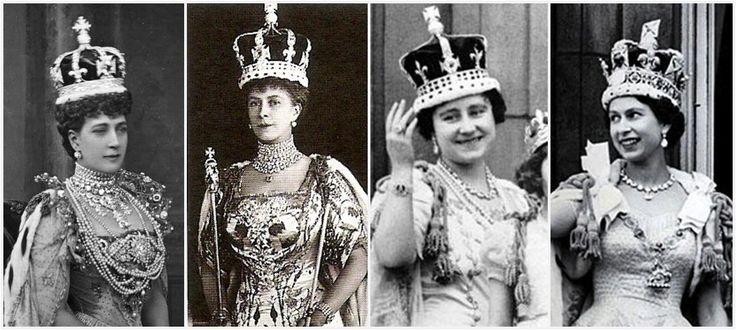 royal coronation photos | Coronations, left to right: Queens Alexandra, Mary, Elizabeth, and ...