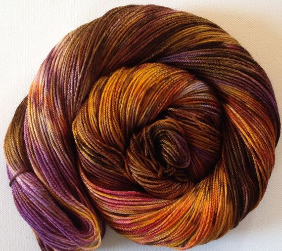 Hand painted 50/50 merino silk 4 ply yarn 380 by Artemisknits, $30.00