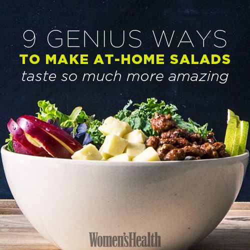 9 genius ways to make at-home salads taste SO much more amazing: http://www.womenshealthmag.com/nutrition/healthy-salads?cm_mmc=pinterest-_-womenshealth-_-content-food-_-homemadesalad