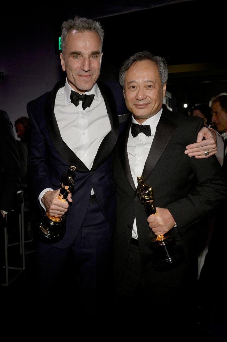 2013 Oscar winners, Daniel Day-Lewis, Best Actor for 'Lincoln' and Ang Lee, Best Director for 'Life of Pi', attending the Oscars Governors Ball.  Photo: Getty.