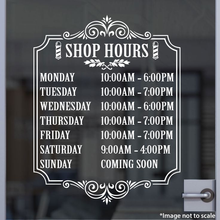 Barber Shop Hours Stickertitans Com Custom Business