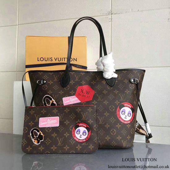 c87b6358fa Louis Vuitton Neverfull MM My World Tour P00176 Monogram Canvas ...