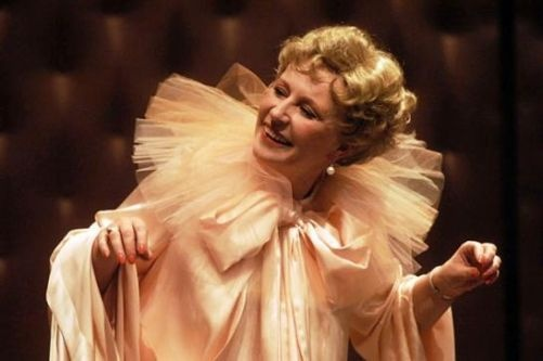 Polonia Theatre, Warsaw. Krystyna Janda as Florence Foster Jenkins, called the world's worst operatic singer ever, in Glorious! / Boska!