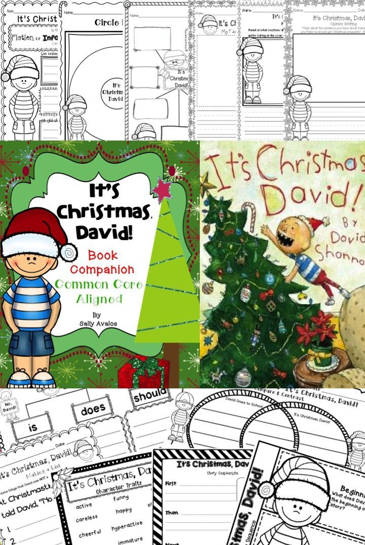 It's Christmas, David! by David Shannon is a must read this Christmas season. This 57 page packet includes several differentiated pages to meet the needs of your students and it is aligned to the common core standards.