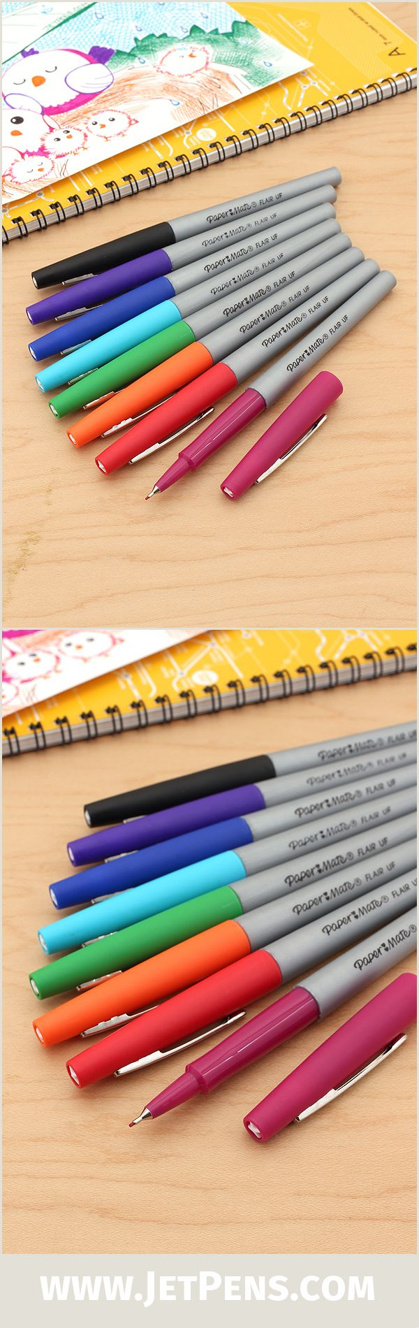 The classic Paper Mate Flair now comes in an extra-fine, metal-reinforced tip size for precise writing and coloring.