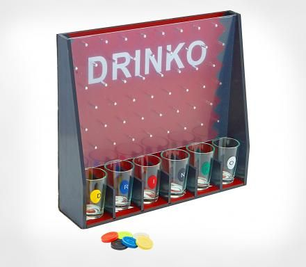 DRINKO Is a Plinko-Like Drinking Game With Shot Glasses