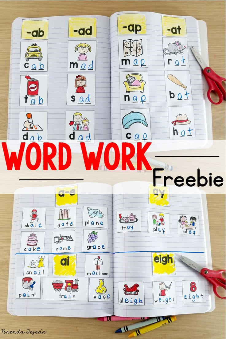 Free word work centers and weekly schedule. A week's worth of activities, plus ideas and tips to make your word work stick!