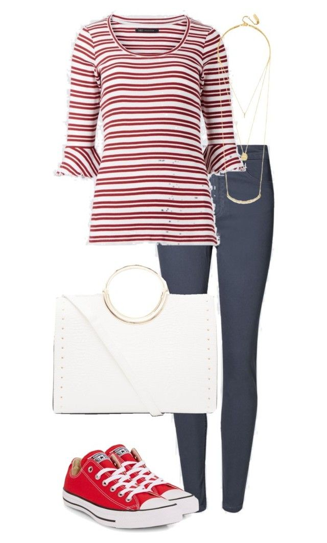"""Office Casual #166"" by amooshadow on Polyvore featuring Marks & Spencer, Converse, BaubleBar and New Look"
