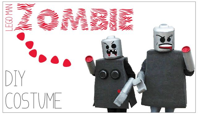 DIY Zombie Lego Man Costume. How we made our Lego Man Costume.