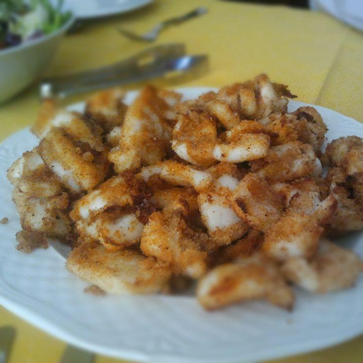 Seppioline al forno in pangrattato
