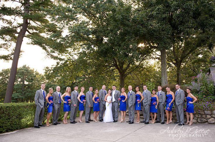 blue grey wedding colors royal blue bridesmaid dresses