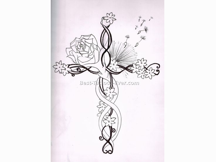 feminine cross tattoos 6