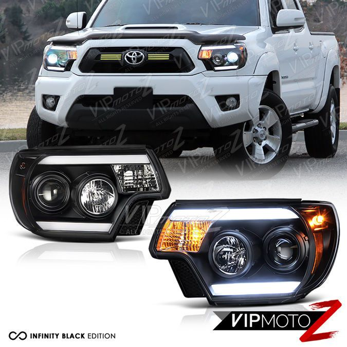 #2012-#2015 #Toyota #Tacoma #TRIBAL #Black #LED #LightBars #Headlight #TRD #VIPMOTOZ